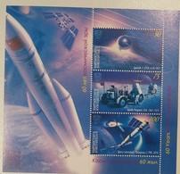 O) 2016 KYRGYZSTAN, SPACE - LABORATOYRY-SATELLITES -EXPLORER VEHICLE.SPUTNIK 1-USSR FROM 1957, APOLLO PROGRAM-USA 1975, - Kyrgyzstan