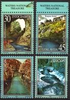 Canyon River Jerma Drim Otter Eagle Bird LABEL CINDERELLA VIGNETTE Yugoslavia 1994 Europa CEPT - Geography