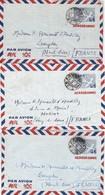 JAPAN. 3 AEROGRAMMES 45 SEN POUR LA FRANCE  / 4 - Postal Stationery