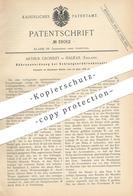 Original Patent - Arthur Crossley , Halifax , England , 1886 , Röhrenanordnung Beim Schlangenröhrenkessel   Damfkessel ! - Historische Documenten