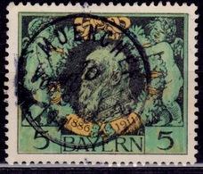 Germany - Bavaria 1911, Prince Regent Luitpold, 5M, Used - Bavaria