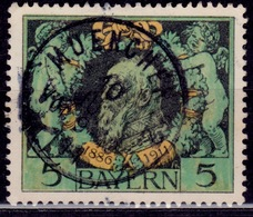Germany - Bavaria 1911, Prince Regent Luitpold, 5M, Used - Beieren