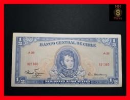 CHILE  ½ Escudos  1962  P. 134  RED SERIAL XF - Chili