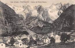 "08801 ""(AO) COURMAYEUR - CATENA DEL MONTE BIANCO""  VEDUTA. CART SPED 1920 - Italia"