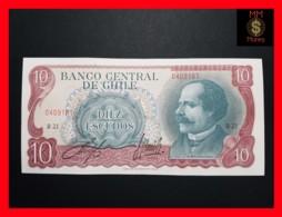 CHILE  10 Escudos  1970  P.142 A  UNC - Chili