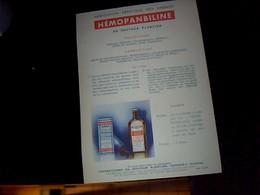 Publicitée Tract   Prduit Pharmaceutique Hémopanbiline Du Dr  Plantier A Annonay Ardeche - Publicités
