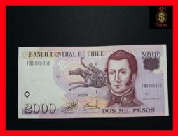 CHILE  2.000 2000 Pesos  2003  P. 158  LOW SERIAL  UNC - Chili