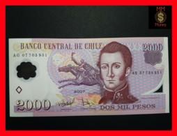 CHILE  2.000 2000 Pesos  2007  P. 160 POLYMER  UNC - Chili