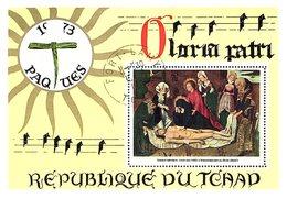 REPUBLIQUE DU TCHAD - BLOC GLORIA PATRI 1973 PAQUES - FORT LAMY 15.4.1973 / R265 - Ciad (1960-...)