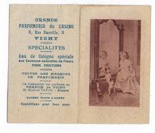 03 - VICHY - Calendrier Parfumé  -  Parfumerie Du CASINO  - 1923  - - Calendars
