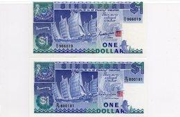 SINGAPOUR / Superbes Billets UNC De 1987 N° 18a Et 18b Du World Paper Money - Singapore