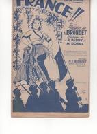 Partition FRANCE Marche Des Soldats De La Liberté A. Brondet - Partitions Musicales Anciennes