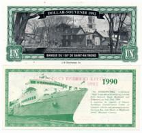 1990//92 // LOCAL BANK  // 1 & 3 Dollars // UNC - Canada