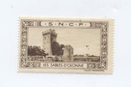 LES SABLES D'OLONNE (Vendée) / Vignette SNCF / RARE - Publicités