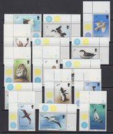 South Georgia 1987 Definitives / Birds 15v (all Corners) ** Mnh (41286) - Zuid-Georgia