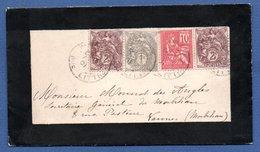 Enveloppe Pour Vannes - 4 Avril 1901 - Marcophilie (Lettres)