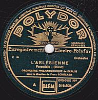 78 Trs - 30 Cm - état B - ORCH. PHILHARMONIQUE DE BERLIN - L'ARLESIENNE  Farandole - Intermezzo De Bizet - 78 Rpm - Schellackplatten