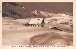"""08805 """"TORINO - CERESOLE REALE - RIFUGIO J. JERVIS - AL PIANO DI NEL M. 2250 - INVERNALE"""" TIMBRO. CART  SPED 1955 - Italia"""