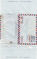 JAPAN. AEROGRAMMES 45 SEN POUR LA FRANCE. AZABU 26 11 54  / 4 - Postal Stationery
