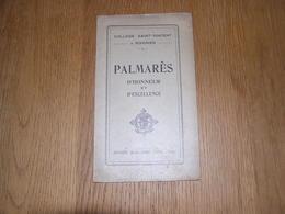 PALMARES D' Honneur Et D' Excellence  ANNEE 1923 1924 COLLEGE SAINT VINCENT à SOIGNIES Ecole Prix Résultats - Diploma & School Reports