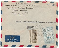 SYRIA/SYRIE - AIR MAIL COVER TO GERMANY 1959 / THEMATIC STAMP-HUMAN RIGHTS / ALEP CANCEL - Syria