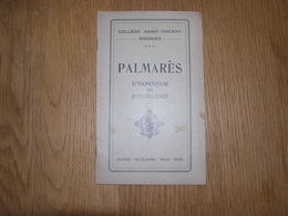 PALMARES D' Honneur Et D' Excellence  ANNEE 1924 1925 COLLEGE SAINT VINCENT à SOIGNIES Ecole Prix Résultats - Diploma & School Reports