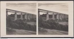 LITHUANIA LITUANIE LITAUEN Old Stereo Photo Card Biggest Railway Train Bridge Lyduvenai #12443 - Lithuania
