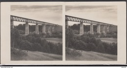 LITHUANIA LITUANIE LITAUEN Old Stereo Photo Card Biggest Railway Train Bridge Lyduvenai #12443 - Litauen
