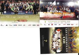 HANDBALL - EQUIPE DE FRANCE MASCULINE - CHAMPIONNE DU MONDE - CHAMPIONS JEUX OLYMPIQUES PEKIN 2008 - 3 CP - Handball