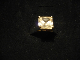 Silber-Ring Mit Großem Zirkon (696) - Anelli