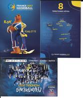 HANDBALL - EQUIPE DE FRANCE MASCULINE - MASCOTTE CHAMPIONNAT DU MONDE 2017 FRANCE - CHAMPIONS DU MONDE - 3 CP - Handball