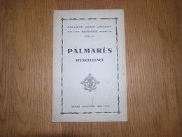 PALMARES D' Honneur Et D' Excellence  ANNEE 1930 1931 COLLEGE SAINT VINCENT à SOIGNIES Ecole Prix Résultats - Diploma & School Reports