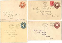 AR192) GRAN BRETAGNA - Lot Of 4 Postal Stationery From UK To USA - 1921 - 1949 - Interi Postali