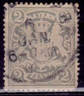 Germany - Bavaria 1888-1900, Coat Of Arms, 2pf ,sc#58, Used - Bavaria