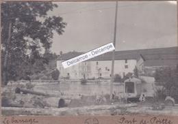 PONT DE POITTE  Années 1930 - Photo Originale Du Barrage, Le Moulin ( Jura ) - Lieux