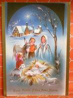 Auguri Buon Natale Felice Anno Nuovo Natività Cartolina - Christmas