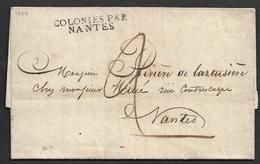 1824 LAC Précurseur - SENEGAL - Saint Louis - COLONIES PAR NANTES - - 1801-1848: Précurseurs XIX