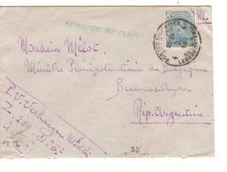JS562/ TP 141 S/L.PMB-BLP 4 4/10/1918 Censure Militaire Verte Z.209-81° Censure Militaire Verte V.Argentine C.d'arrivée - Esercito Belga