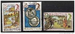 MAURITIUS 1978 QEII 25c, 75c, 1r.50 Used - Mauritius (1968-...)