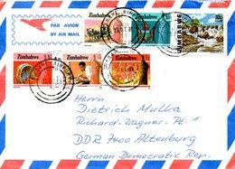 ZIMBABWE. N°104 De 1985 Sur Enveloppe Ayant Circulé. Armoiries. - Covers