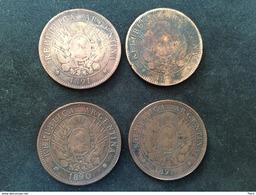 4 Pièces - Argentine - 2 CENTAVOS - 1890-1891 - Bronze - Argentina