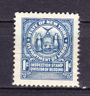 Taxmarke, Bedding, New York, USA (60061) - Gebührenstempel, Impoststempel