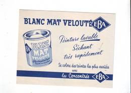 28 B Buvard Blanc Mat EBA Très Bel état - Peintures