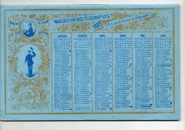 Indicateur Des Télégraphes 1889 - Offert Par Le Facteur Des Télégraphe - Calendars