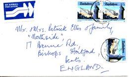 ZIMBABWE. N°91 De 1985 Sur Enveloppe Ayant Circulé. Mine De Charbon. - Factories & Industries