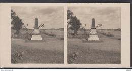 LITHUANIA LITUANIE LITAUEN Old Stereo Photo Card Gediminas Monument (Veliuona) #12466 - Lithuania