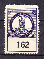 Taxmarke, Bedding, Virginia, USA (60065) - Gebührenstempel, Impoststempel