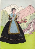 """Carte Brodée """"  SAVOIE   """" Costume Régional - Ricamate"""