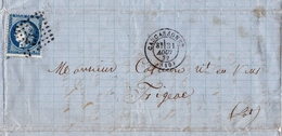 Lettre Puichéric Babou 1872 Aude Carcassonne Figeac Lot Vin Wine - 1871-1875 Ceres