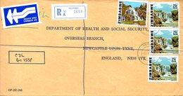 ZIMBABWE. N°11 De 1980 +  N°49 De 1983 Sur Enveloppe Ayant Circulé. Chutes D'eau. - Zimbabwe (1980-...)